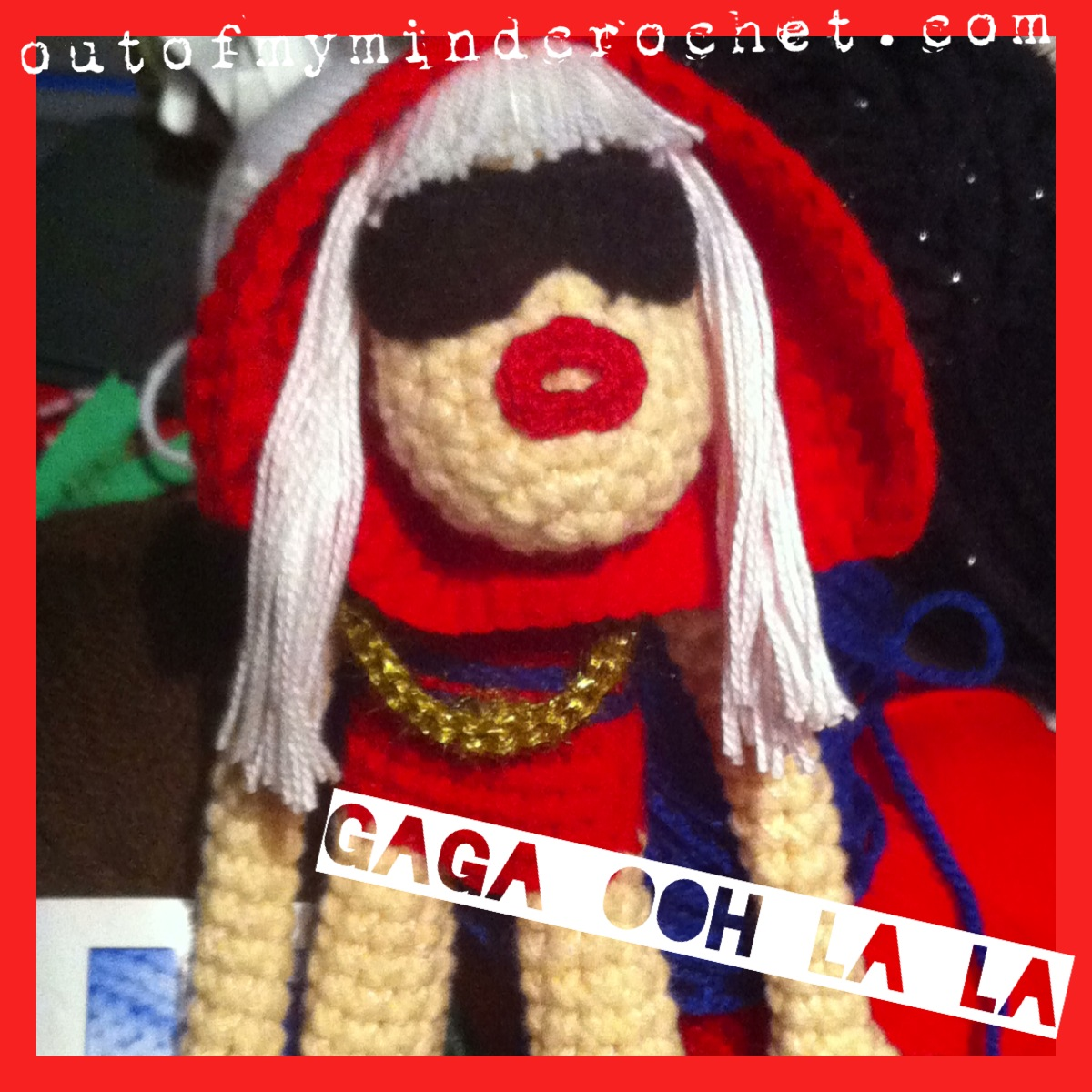 crochet Lady Gaga doll