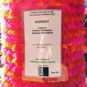 entry tag details Sherbert by Jessica Thompson